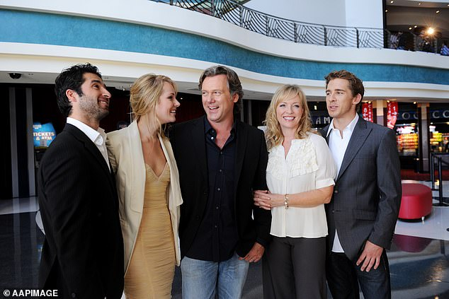 Former co-stars: Hugh, who starred alongside Rebecca in Seven's drama series Packed to the Rafters (both pictured on the right in 2009), was in fits of laughter