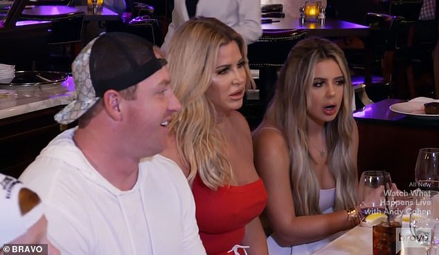 Shocking news: Kroy, Kim and Brielle sat across from Laurie as she delivered the information