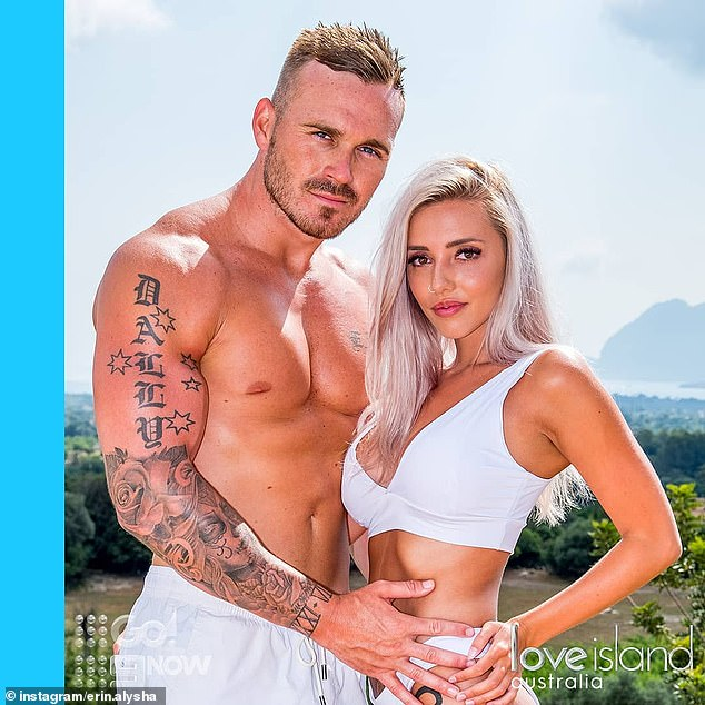 'It's different': Eden appeared on dating series Love Island in 2018 and, like some of his SAS co-stars, had a presumption of what would happen 'behind the scenes'. Pictured with Erin Barnett