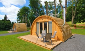 hut at Glamping @ 68° West, Brecon Beacons