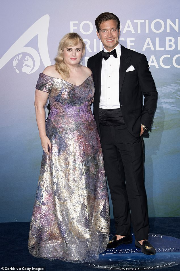 New love: Rebel and Jacob, 29, made their red carpet debut at the Planetary Health Gala in Monaco on September 24. Jacob's family founded the Anheuser-Busch brewery, which produces America's most popular beer, Budweiser