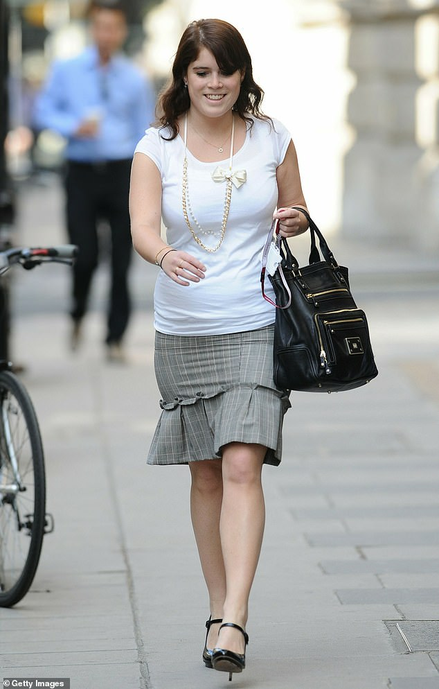The Princess began working at Mayfair gallery Hauser & Wirth in 2015 and was promoted to director two years later (pictured in London).Fellow Royals – take note!