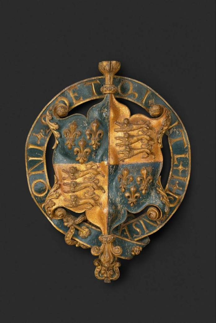 The Royal Arms of King Henry VIII with Garter (c.1525)
