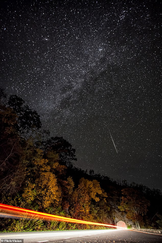 October is full of cosmic wonder, as stargazers are in for a treat this month when hundreds of shooting stars light up the sky during an Orionid meteor shower. These meteors streak across the sky each October, starting the 2nd through November 7th - but peak viewing is expected on the morning of October 21. Pictured is the shower in 2012