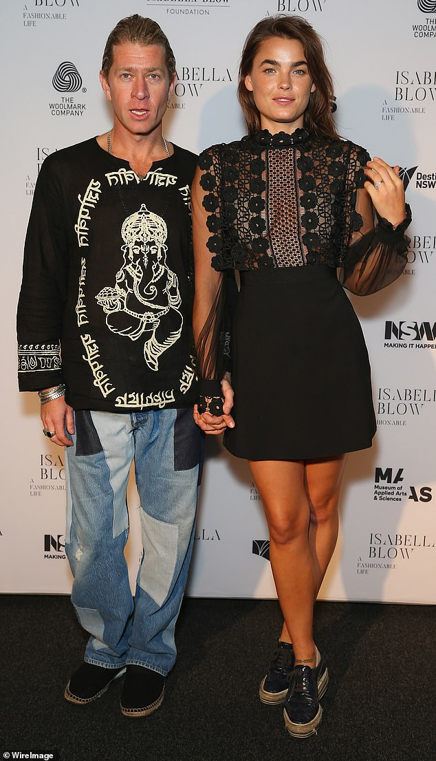 Splitsville: The model split from her fashion designer husband Dan Single (left) three years ago