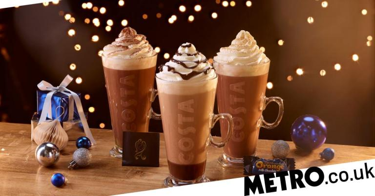 Costa launches Quality Street, Terry's Chocolate Orange and After Eight drinks for Christmas