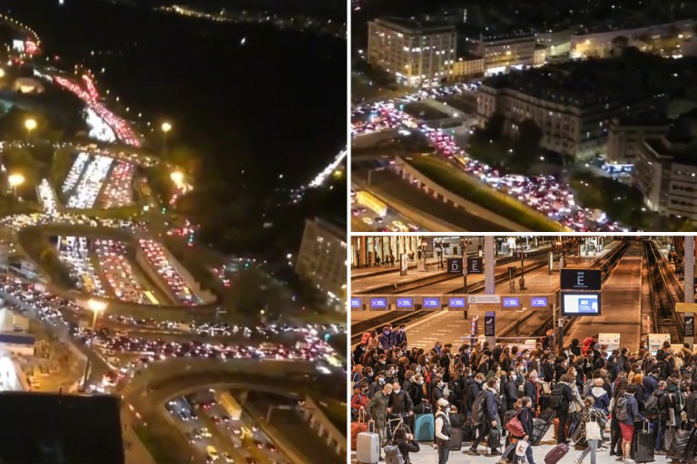 France lockdown: Paris gridlocked as tens of thousands flee city ahead of new nationwide Covid shutdown