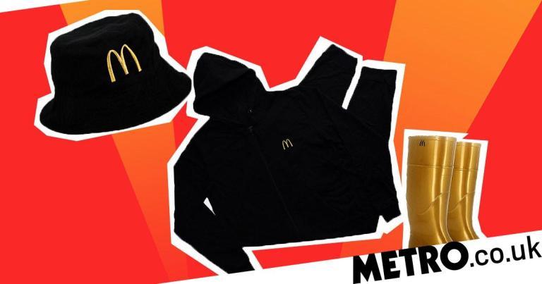 McDonald's is giving away merchandise including M-brand wellies, bucket hats and hoodies