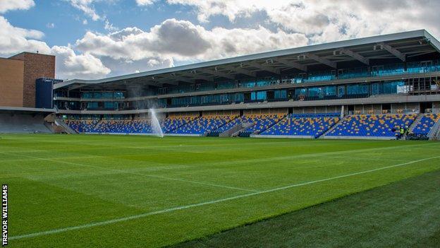 AFC Wimbledon's new stadium at Plough Lane