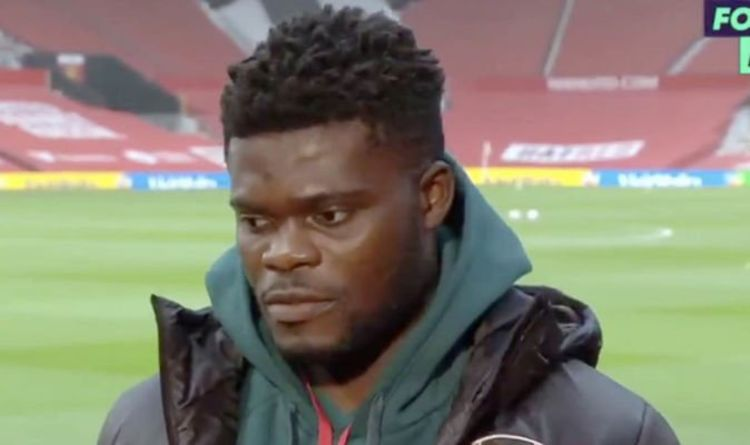 Arsenal star Thomas Partey rates his own form after vital Man Utd win