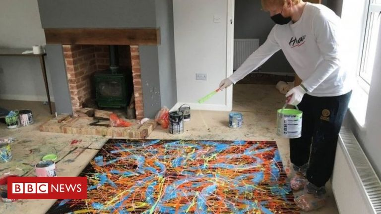 Ed Sheeran donates painting to Suffolk charity auction