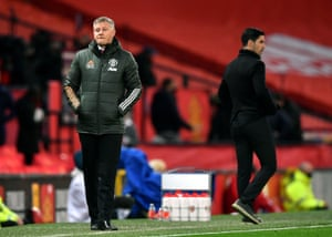 Manchester United manager Ole Gunnar Solskjaer, dejected after another lost home game.