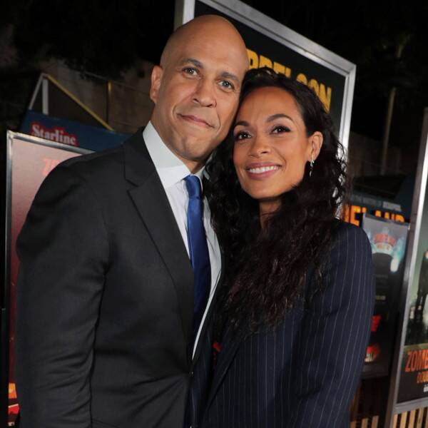 No One Is Prouder of Cory Booker's Senate Reelection Than Rosario Dawson