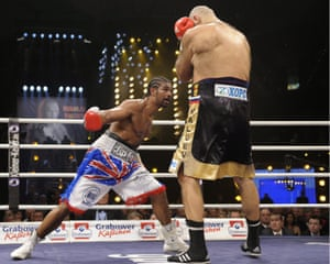David Haye beat Nikolai Valuev in 2009 to win a world heavyweight title