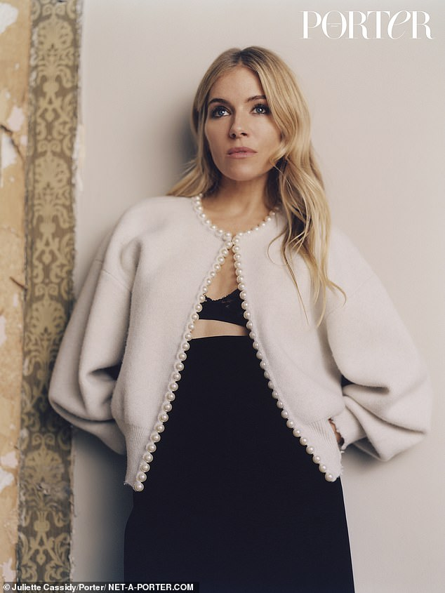 Opening up: Sienna Miller admits she was confronted with the biggest role of her life when lockdown forced the actress to homeschool her daughter while juggling her career