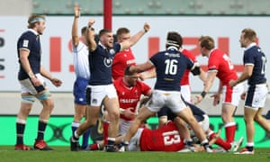 Scotland's victory in Llanelli brought up the first time they had recorded three successive Six Nations victories since Italy were added in 2000.