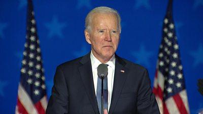 US Election 2020: Biden makes statement in Delaware