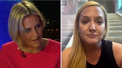 US election: Republican Randi Reed clashes with Emily Maitlis over vote count