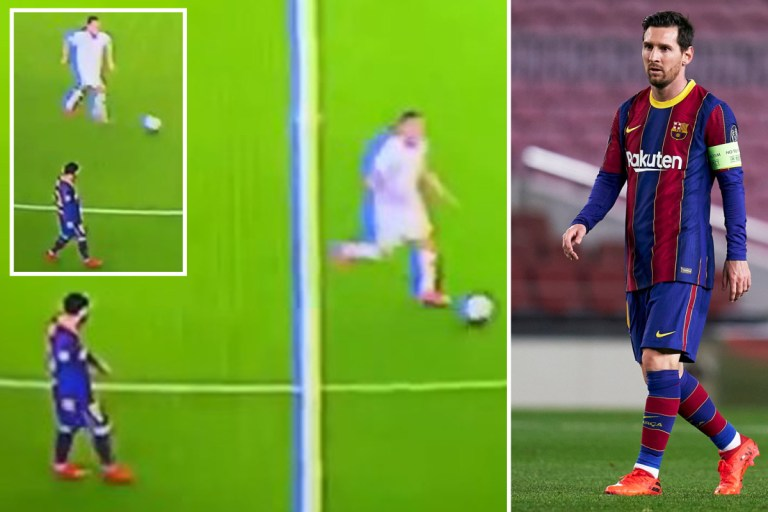 Watch Lionel Messi walk as Dynamo Kiev push for late equaliser while fans fume 'Cristiano Ronaldo would NEVER do that'