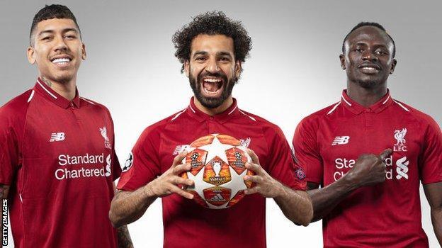 Liverpool trio Roberto Firmino, Mohamed Salah and Sadio Mane
