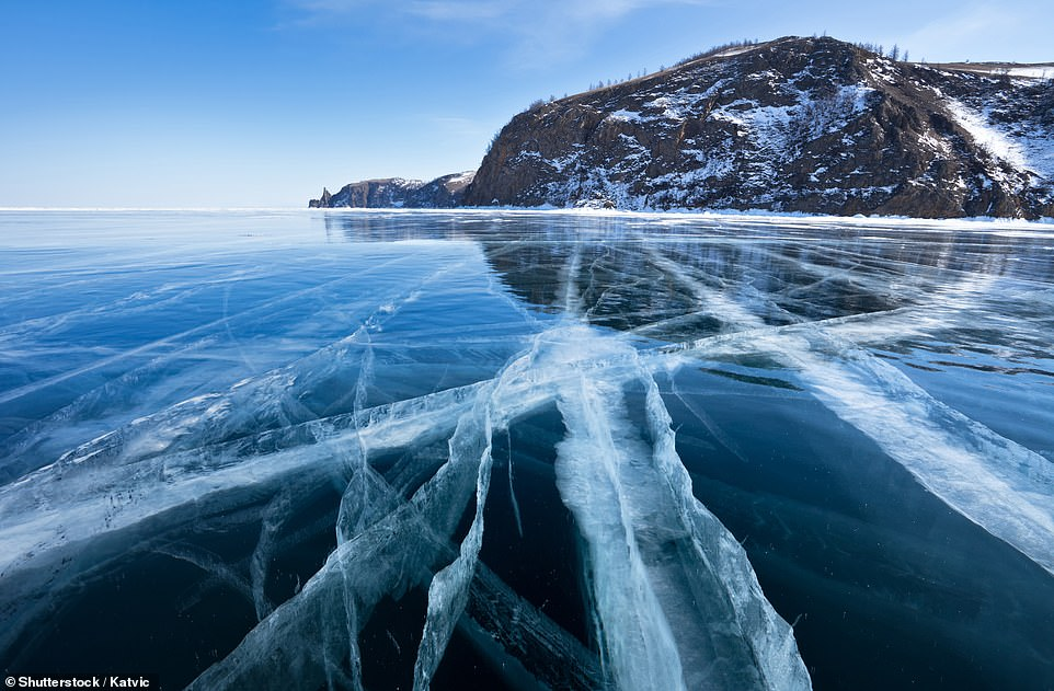 27. LAKE BAIKAL, RUSSIA: Located deep in Siberia, this lake is the world's deepest (5,387 feet deep at its deepest point) as well as the world's largest by volume (5,521 cubic miles of water). Big 7 Travel describes it as 'old and mysterious'
