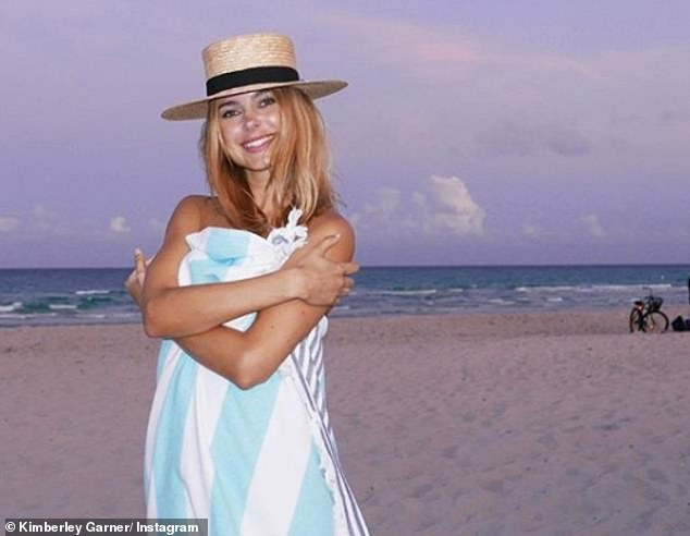 Jet setter: Kimberley splits her time between her homes in London and Miami after purchasing a dream pad in the coastal city in December 2018