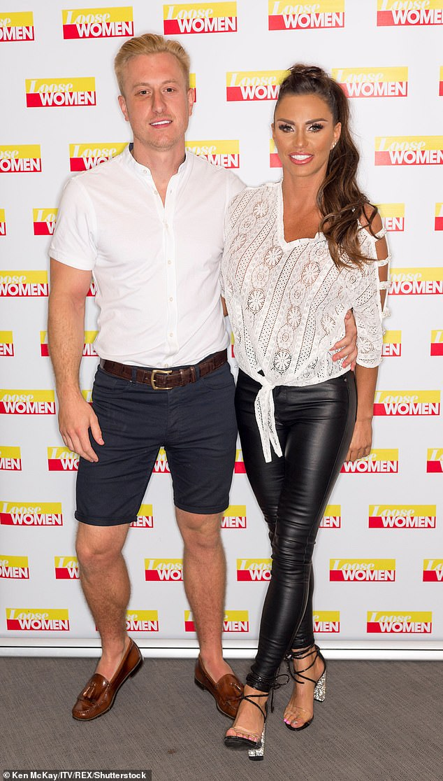 Kris said of ex Katie Price: 'I've never sold one story on her, yet I really believe she's selling stories on me, which I think is so hypocritical (pictured together in 2018)