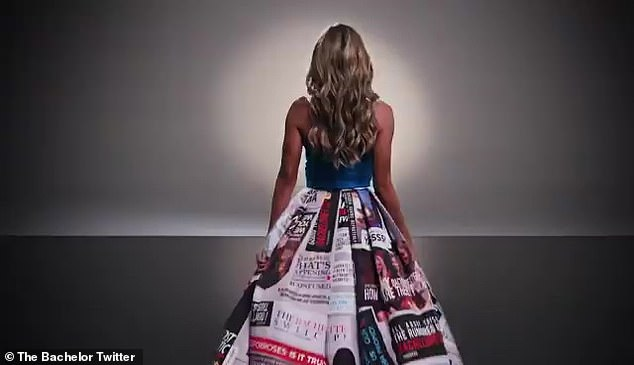 Making headlines! The Bachelorette wore a gown full of headlines speculating on her role