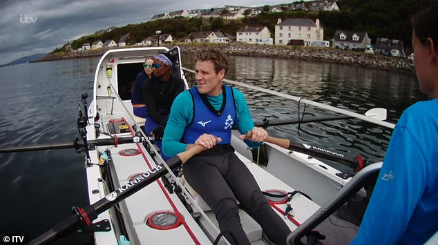 At odds:Things went from bad to worse for the reds, as they also missed out on getting Olympic champion James Cracknell to help them in the penultimate leg of the row
