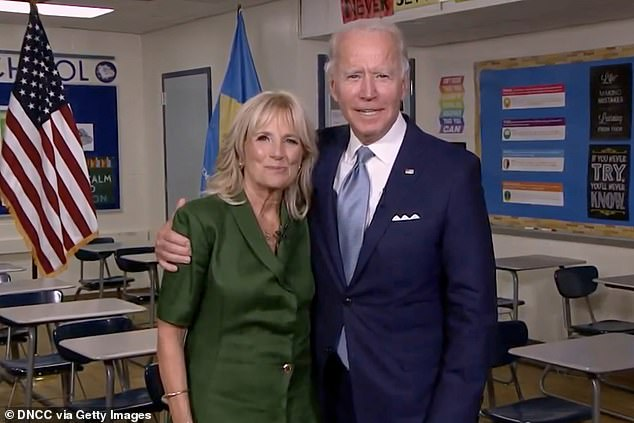 Biden often points to Jill, 69, as a powerful asset for his campaign, and recalled recently how she took over as mother to her husband's two boys