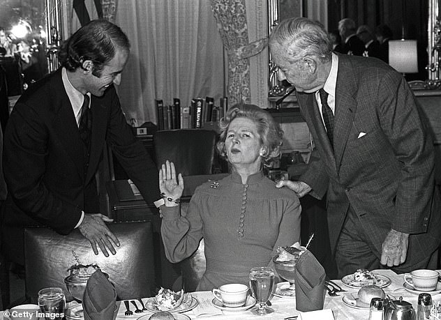After the death of his wife and daughter, Biden continued to work in the Senate, travelling 90 minutes each way by train to and from his Delaware home to Washington DC every day (pictured alongside Margaret Thatcher in 1975)