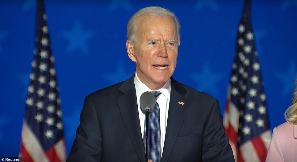 Joe Biden made a speech just after midnight Tuesday asking Americans to be patient and claiming he would eventually be the victor despite failing to land knockout blows in Florida, Ohio and Texas
