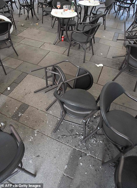 Knocked over chairs in a central cafe this morning