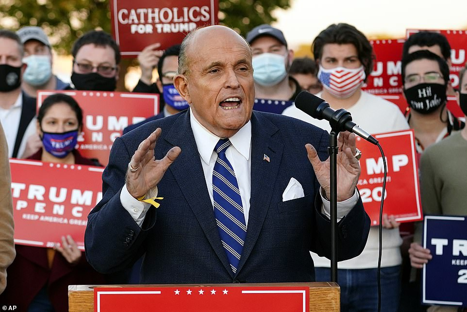 ¿Do you think we're stupid? Do you think we're fools?' Giuliani claimed of the vote count