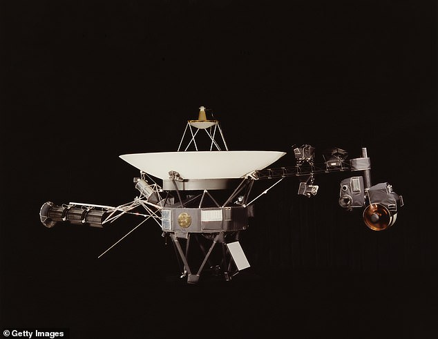 DSS43 had been offline since March while NASA completed a series of hardware upgrades, but tested the new components by sending commands to Voyager 2 (pictured)