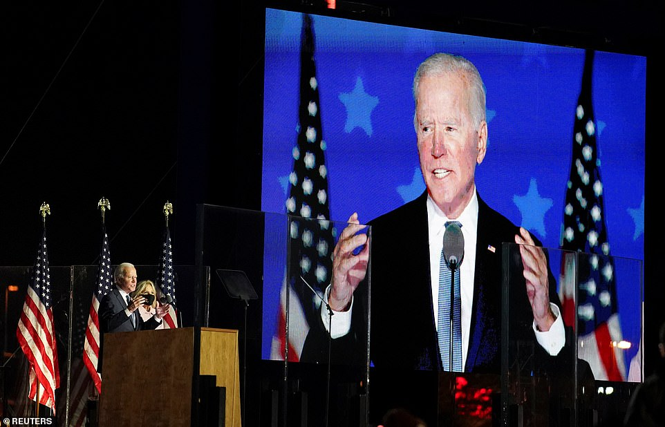 After 1am, Nebraska's 2nd Congressional district - which is worth one electoral vote - was called for Biden