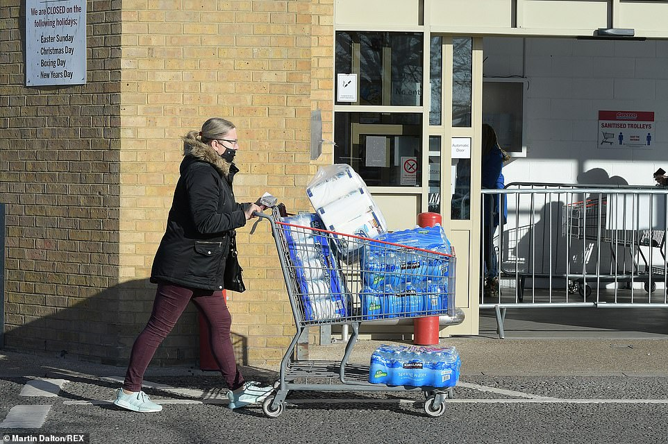 The Costco cash and carry at the Lakeside retail park in West Thurrock, Essex, was buzzing with shoppers today