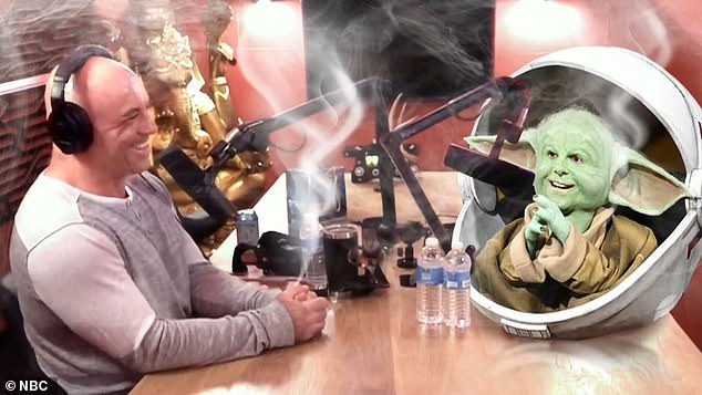 New venture: He joked that his fans were sending him sexual DMs and revealed he's talked about his new line of cannabis products on The Joe Rogan Show