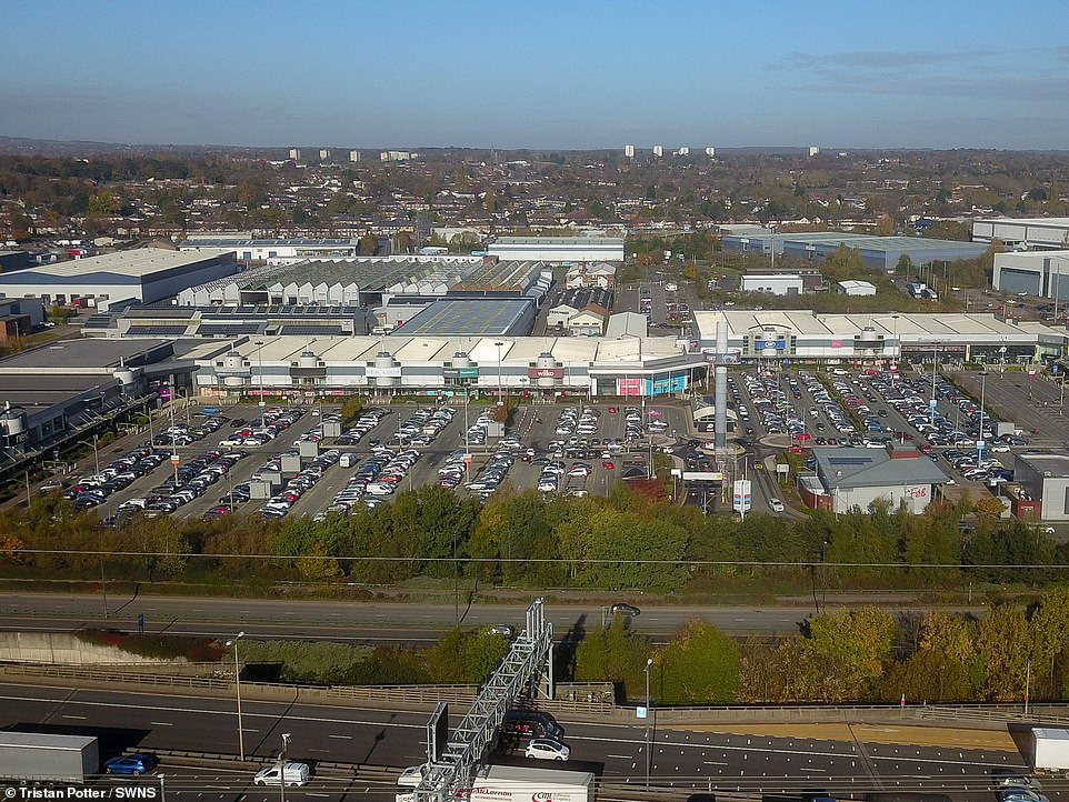 A busy Fort Shopping park in Birmingham this morning, as people shop for goods ahead of the national lockdown
