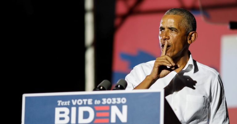 Barack Obama says Trump is acting like a 'two bit dictator' over vote counting