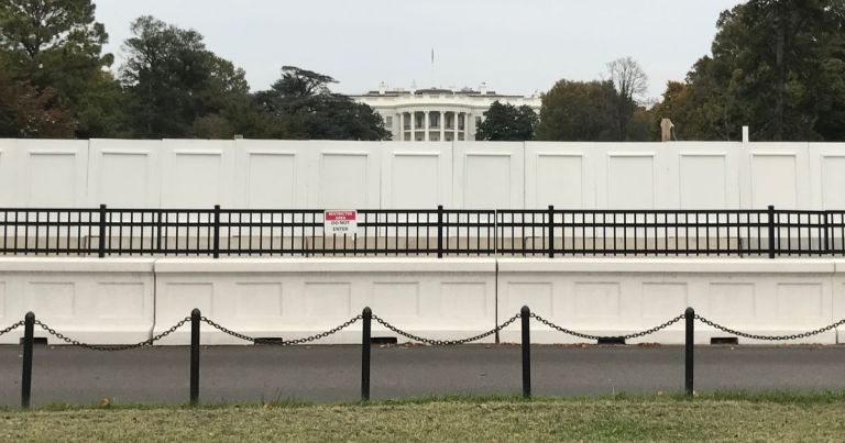 Huge wall to be erected around White House as Trump plots election night lock-in