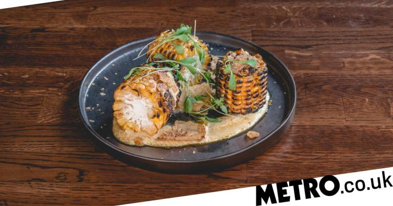 The 'Dorito' and grilled corn dish at Smoke&Salt is seriously moreish