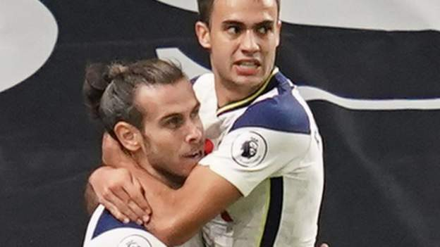 Tottenham Hotspur 2-1 Brighton & Hove Albion: Gareth Bale scores his first goal since re-joining Spurs
