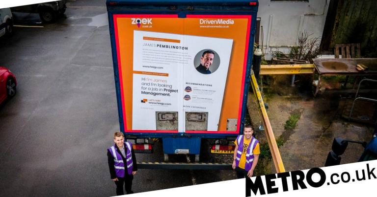 Unemployed dad lands a job after putting his CV on a lorry