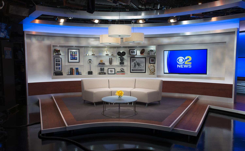 Cbs New York Wcbs Studio 46 Set Design Gallery
