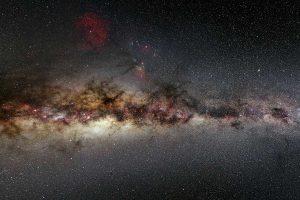 Voor zover we weten cirkelen er rondom de Melkweg ongeveer 50 andere sterrenstelsel. Foto: ESA