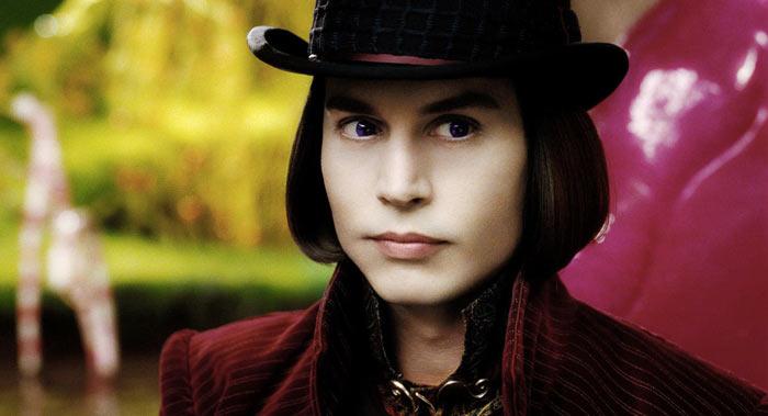 Johnny Depp nel film La Fabbrica di Cioccolato
