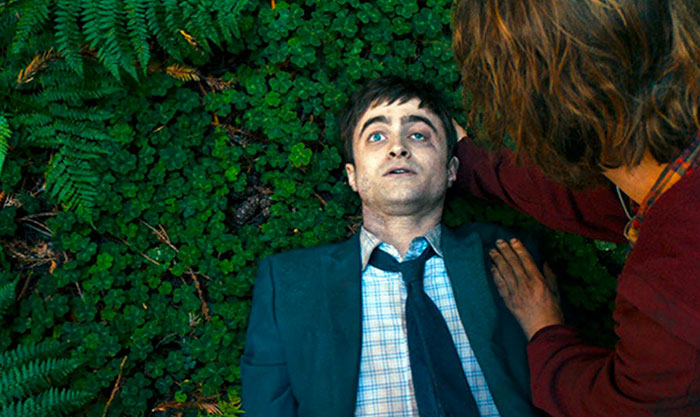 Daniel Radcliffe in una scena di Swiss Army Man