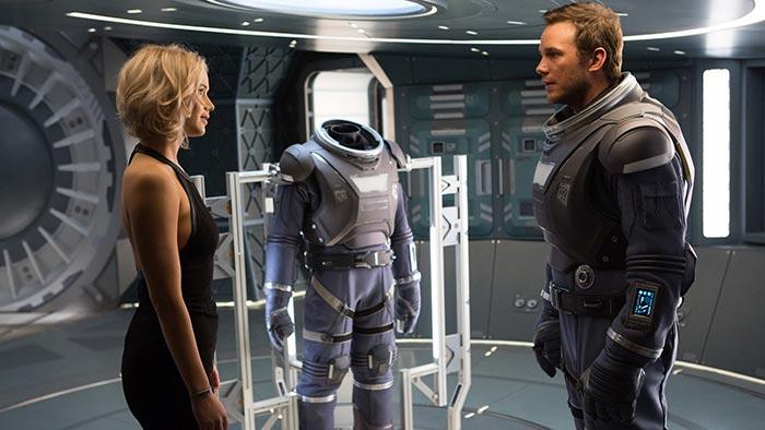 Passengers: recensione del film con Chris Pratt e Jennifer Lawrence