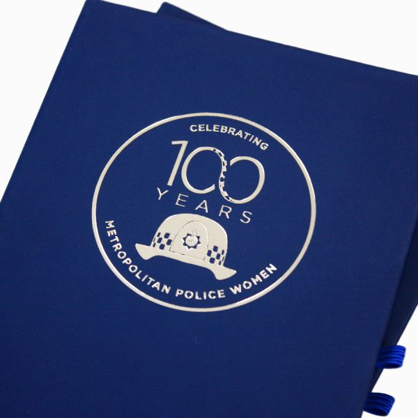 SILVER FOIL CENTENARY NOTEBOOK